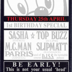 Head - 1st Birthday Special @ Streetlife - Leicester - 25th April 1991 .jpg