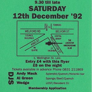 Lost @ The Leicester Underground Club - 12th December 1992 - B .jpg