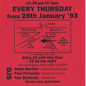 Thunderground @ The Leicester Underground Club - 28th January 1993 -B .jpg