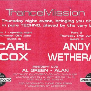 TranceMission @ The Leicester Underground Club - 10th June & 17th June 1993 - B .jpg