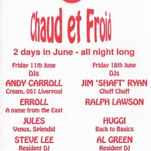 Chad Et Froid @ The Leicester Underground Club - 11th June & 18th June 1993 - B .jpg