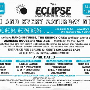 The Eclipse - Coventry - Eastenders - 4th April 1992 - B .jpg