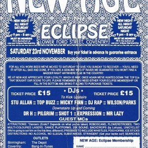 New Age @ The Eclipse - Coventry - 23rd November 1991 - B .jpg