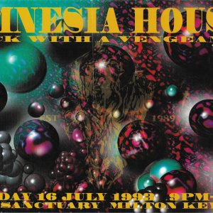 Amnesia House - Back With A Vengeance @ The Sancturay - Milton Keynes 16th July 1993 - Front .jpg